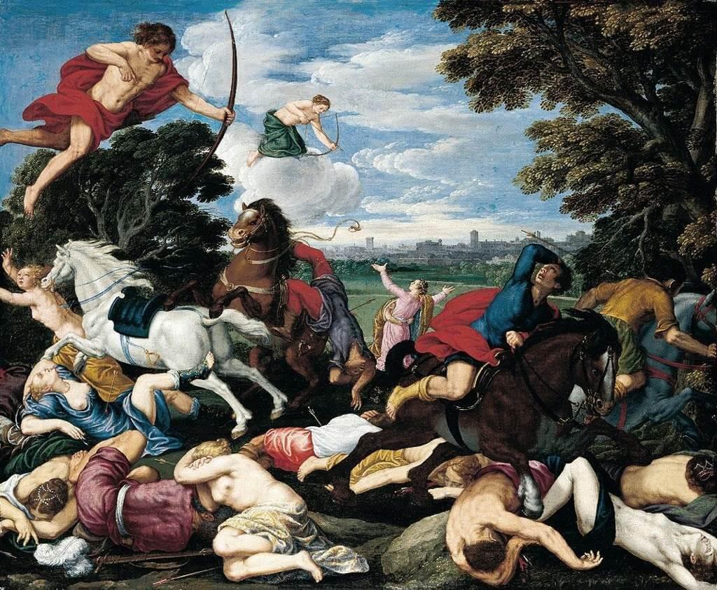 Bogovi ubijaju Niobide